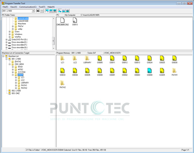 Program transfer tool FANUC